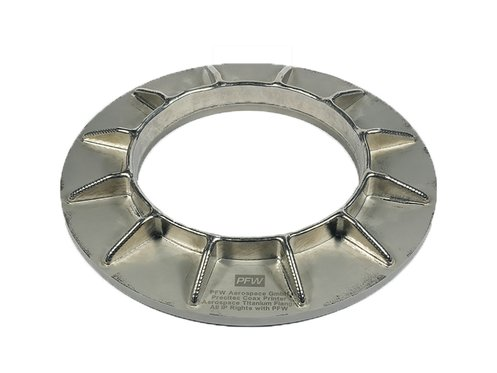 Titanium star flange with 3D printing for aerospace
